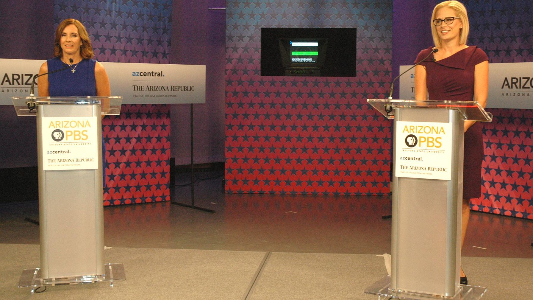 McSally, Sinema square off in only planned debate for Senate