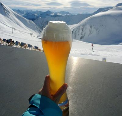 Drinking and skiing