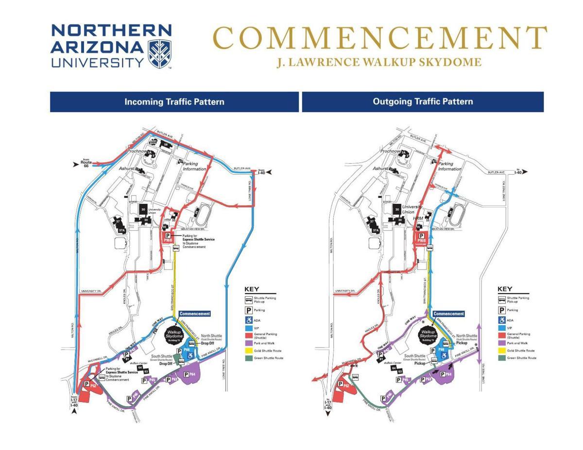 NAU graduation map