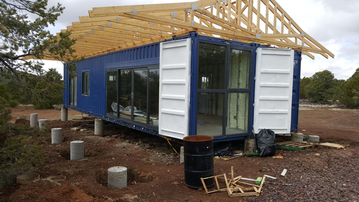 Container house kit assembly