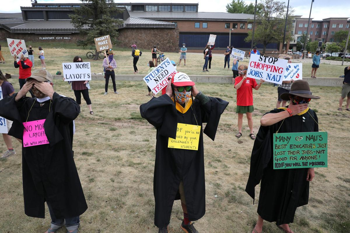 Protesters Demand Nau End Job Chopping Local Azdailysun Com