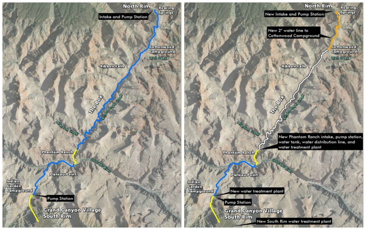 Grand Canyon Water Pipeline Slated For Multimilliondollar - Grand canyon campground map