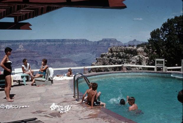 Grand Canyon Inn pool circa 1960