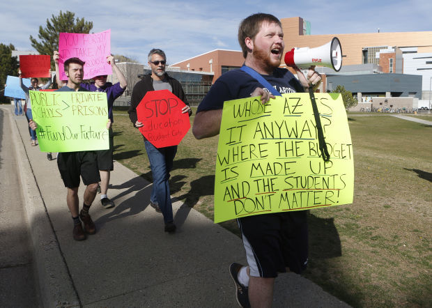 April 4, 2015: NAU protests budget cuts at town hall