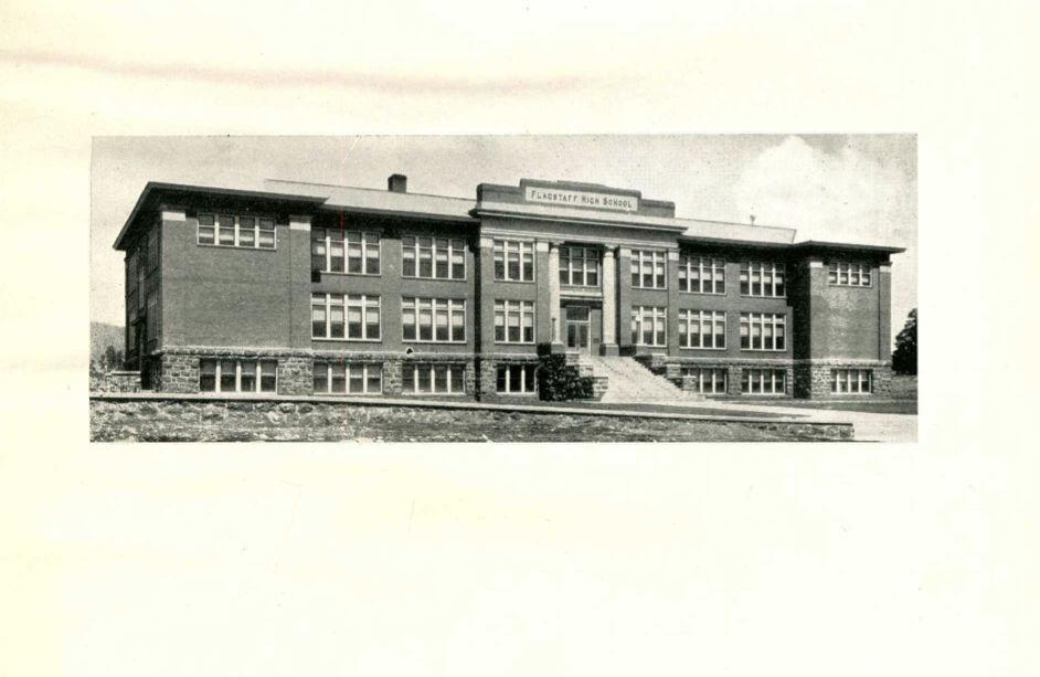 Flagstaff High School Building 1924