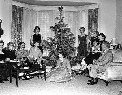 1953: Christmas tea