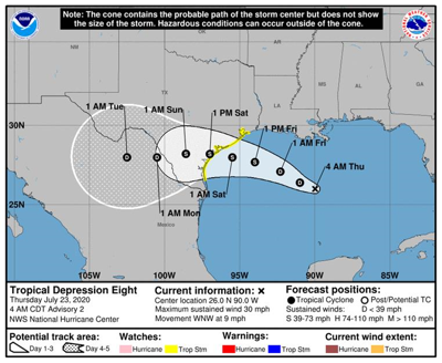 Tropical Storm Hanna expected to make landfall on Texas Gulf Coast