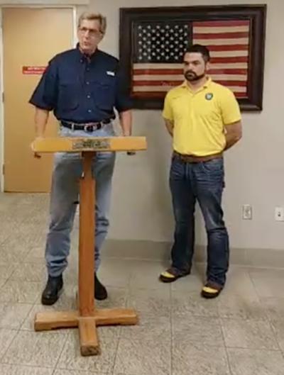 Judge Nate McDonald and Mayor Mark Bricker make announcement