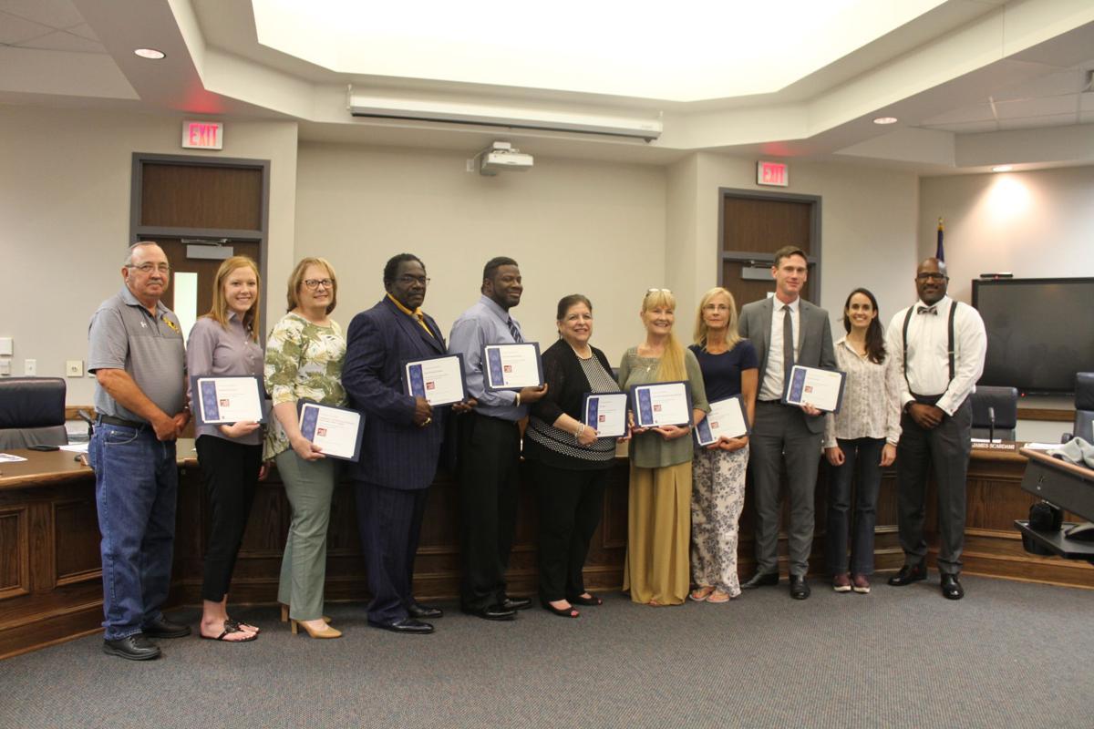 BCISD Board recognizes 16 area businesses