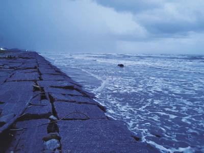 County EOC monitoring Tropical Storm Nicholas