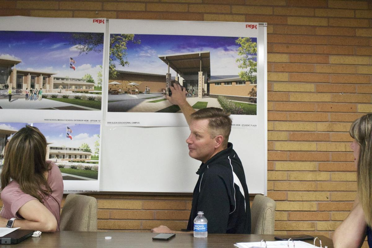 Van Vleck approves new school entrance