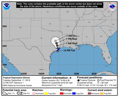Tropical Storm Imelda Forms in the Gulf of Mexico