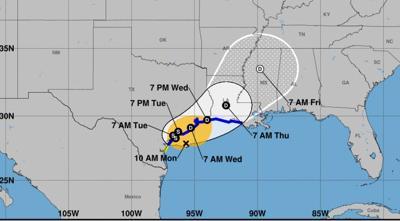 Tropical Storm Beta churns slowly toward Texas
