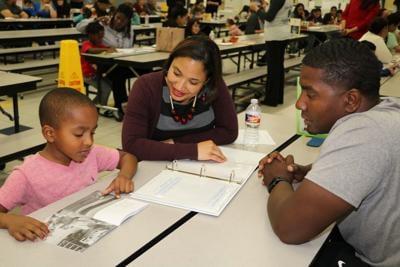 Dual language two-way students lead parent conferences