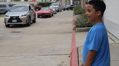 Family, friends throw drive-by birthday party for Baytown boy
