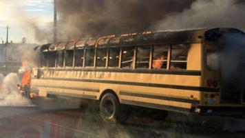 Goose Creek Cisd School Bus Catches Fire Local Baytownsun Com
