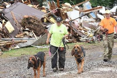 Cadaver Dogs Search Flood Wreckage For Missing Girl News
