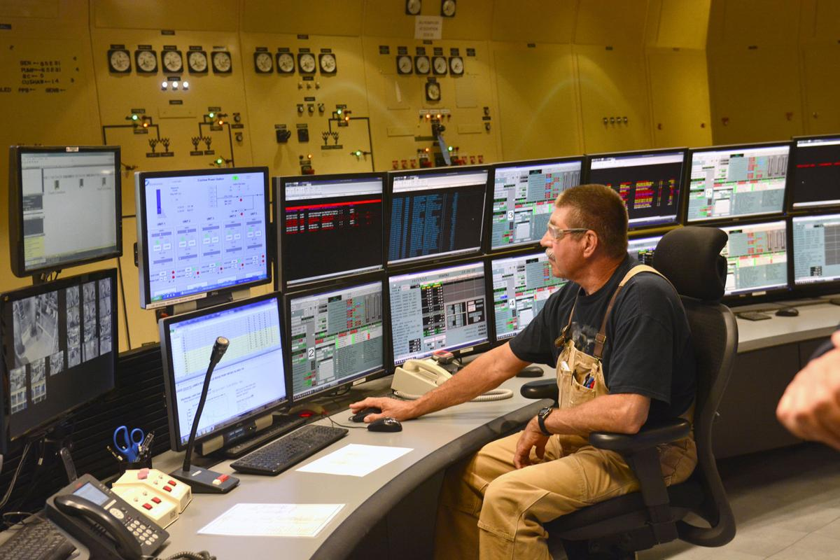 Bathe County pump station operation center ....