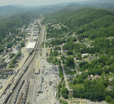Bluefield aerial photograph