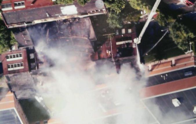 Big Creek High School burns ....