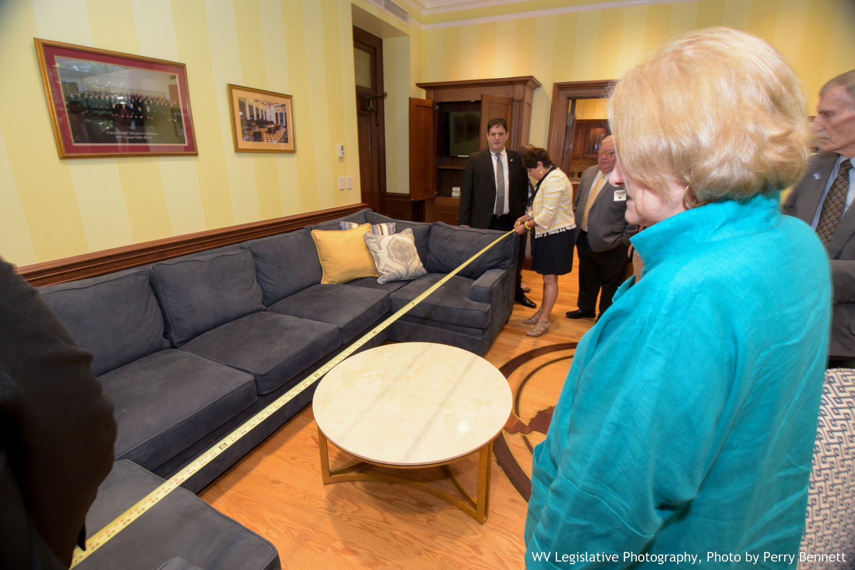 A Large Sofa Is Seen Inside The Office Of Justice Loughry Inside The Court  Offices Of The West Virginia Supreme Court Of Appeals, In Charleston, On  Monday.