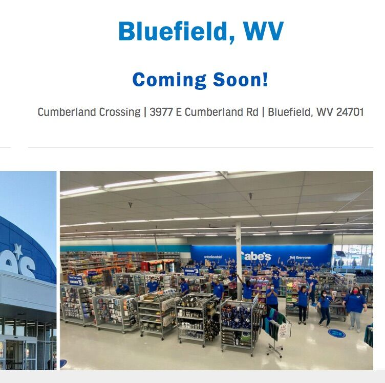 Gabe's coming soon to Bluefield ...