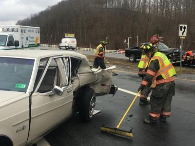 Route 460 crash ...