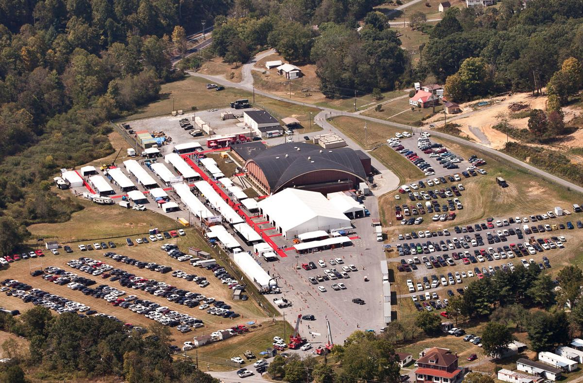 Bluefield Coal Show 2019 aerial photo