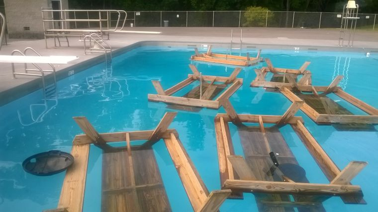 Vandals hit swimming pool at the princeton city park for Garden city swimming pool