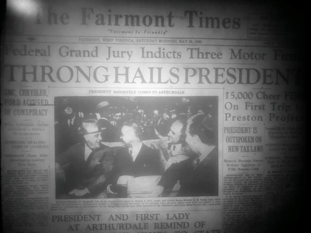 Cover of the Fairmont Times on May 28, 1938