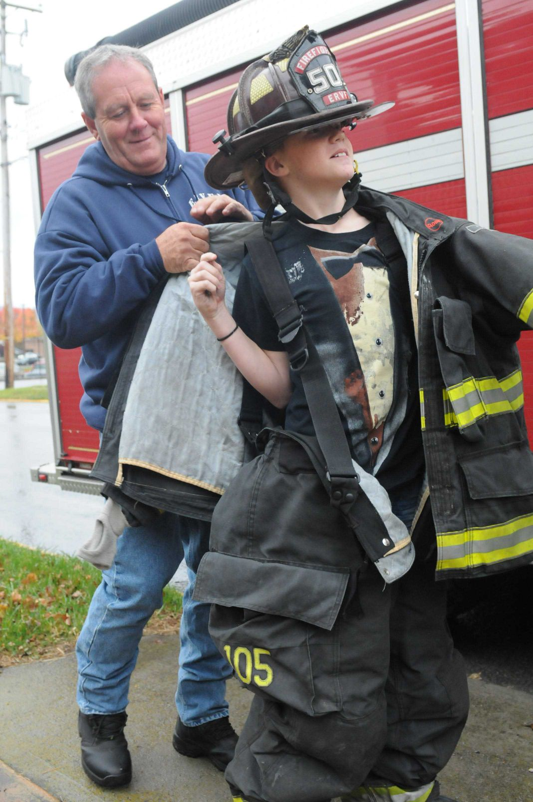 Candy, Fingerprinting and Fire Safety Education at Child