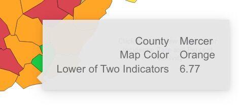 West Virginia County Alert map ...