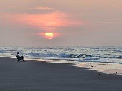 Surf fishing...