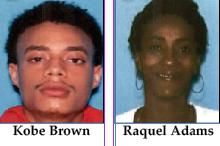 Kobe Brown and Raquel Adams...