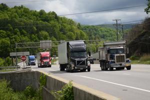 I-77 truck detour underway