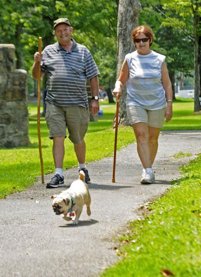 Local Couple Walking in Park