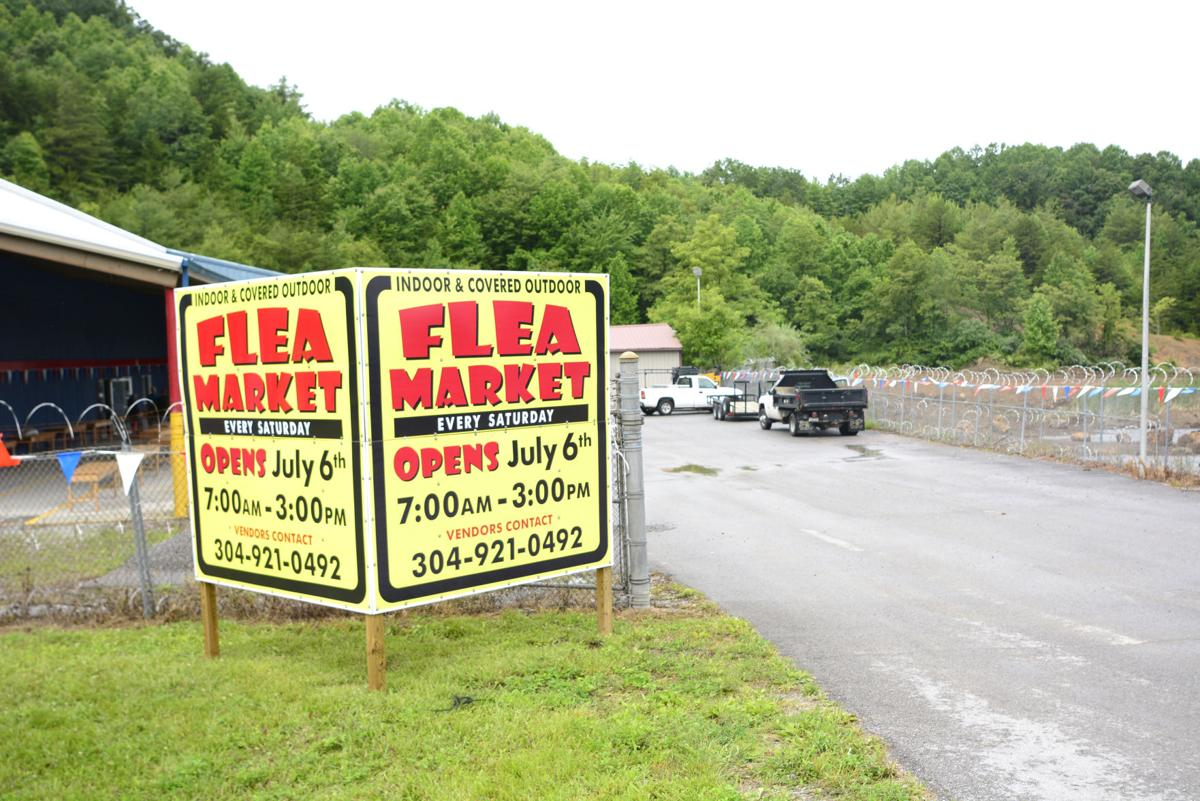 Flea market outside