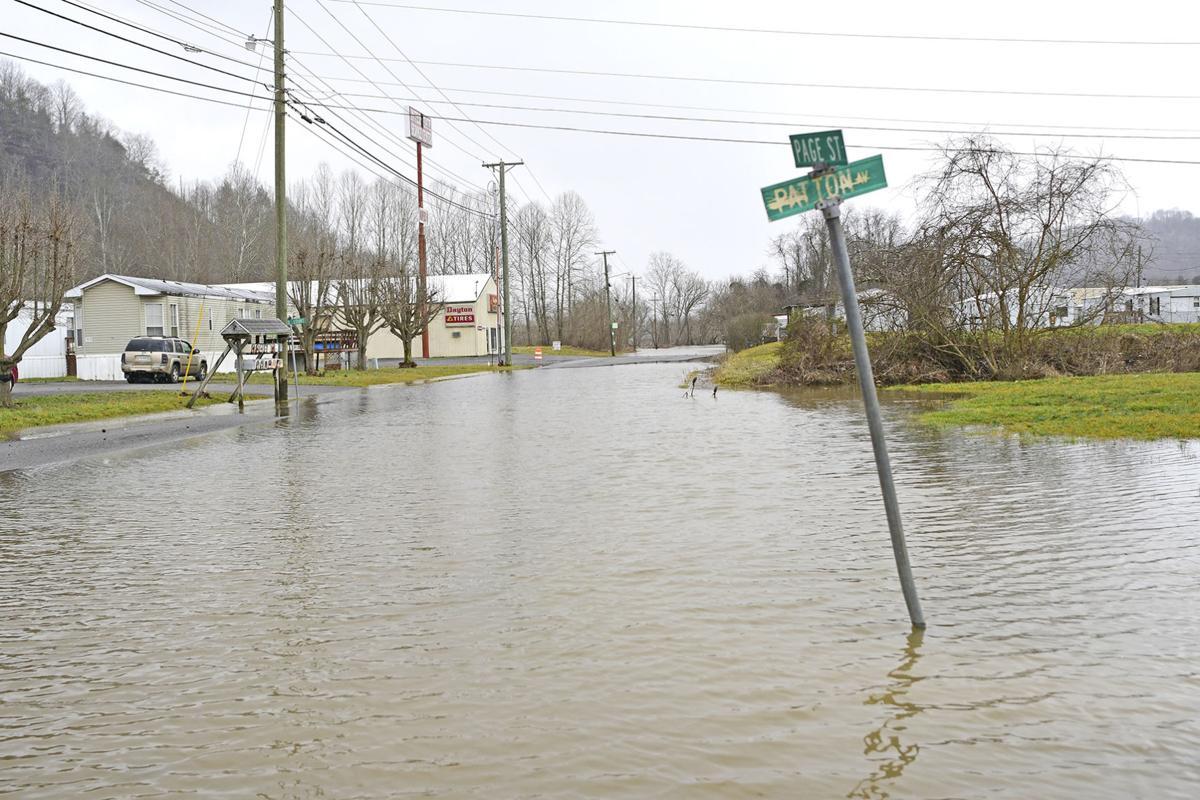 Richlands flooded street