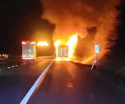 Fire on I77