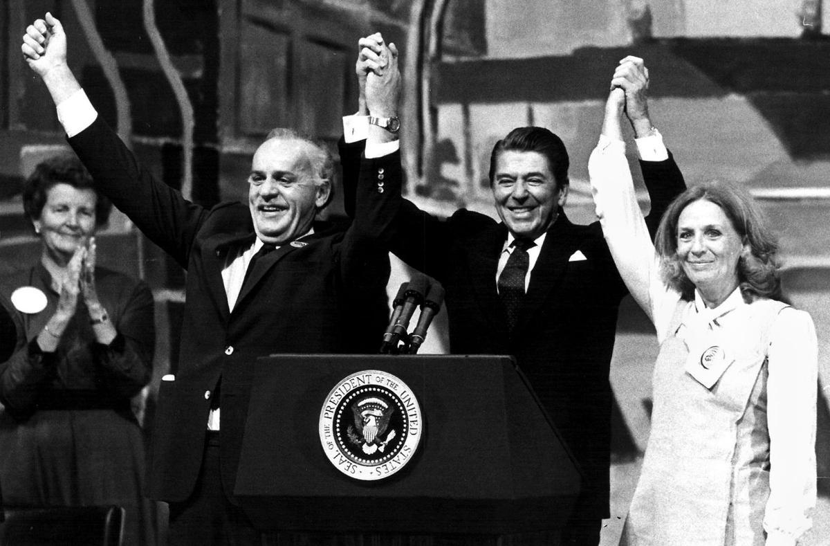 Charles Thone, Ronald Reagan, Ruth Thone