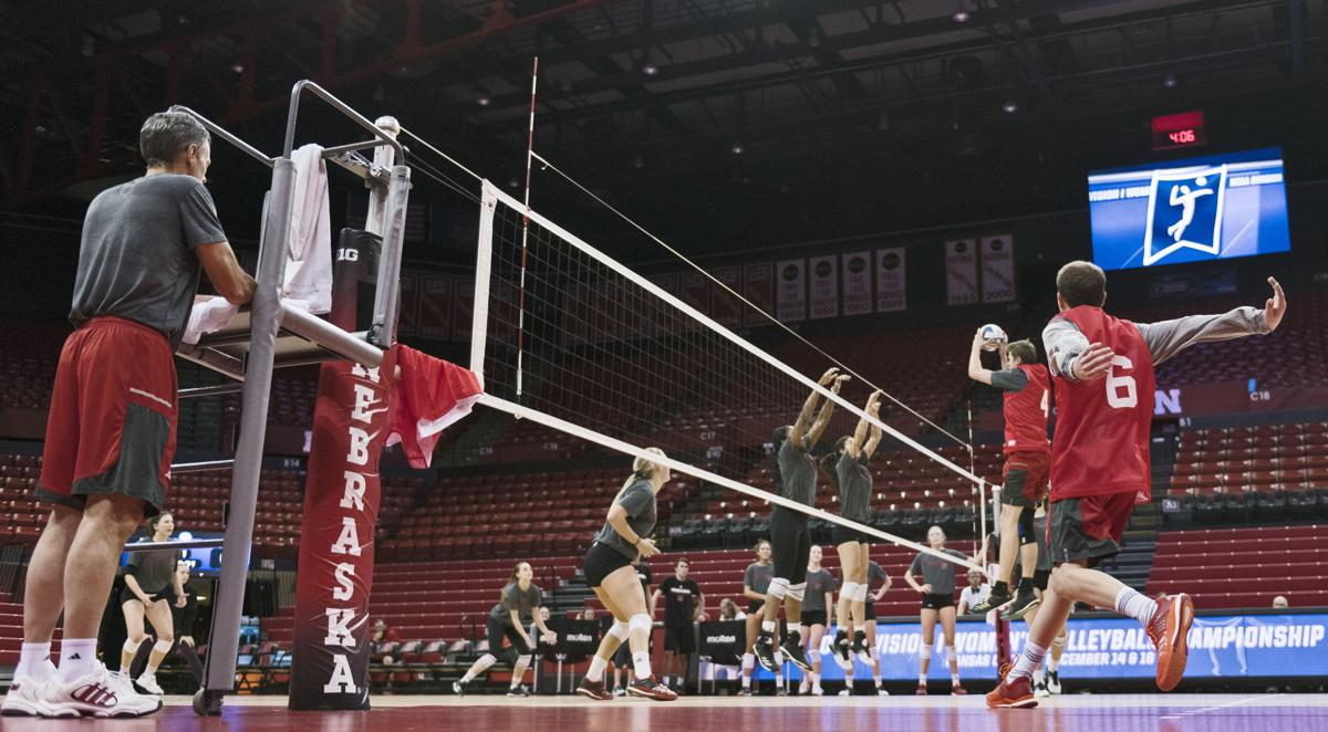 Nebraska volleyball, NCAA Tournament practice, 11/30/17