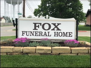 Fox Funeral Home Sign