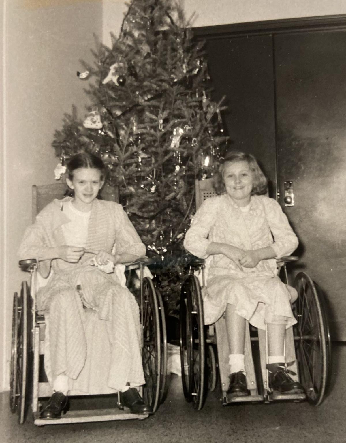 Margie Thomsen, Donna Grubb -- December 1952 (web)