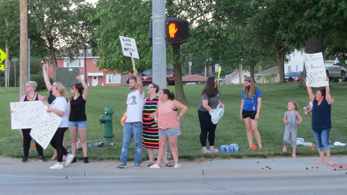 Protest held in Beatrice, one man cited for assault