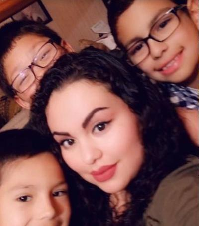Maria Menjivar and kids