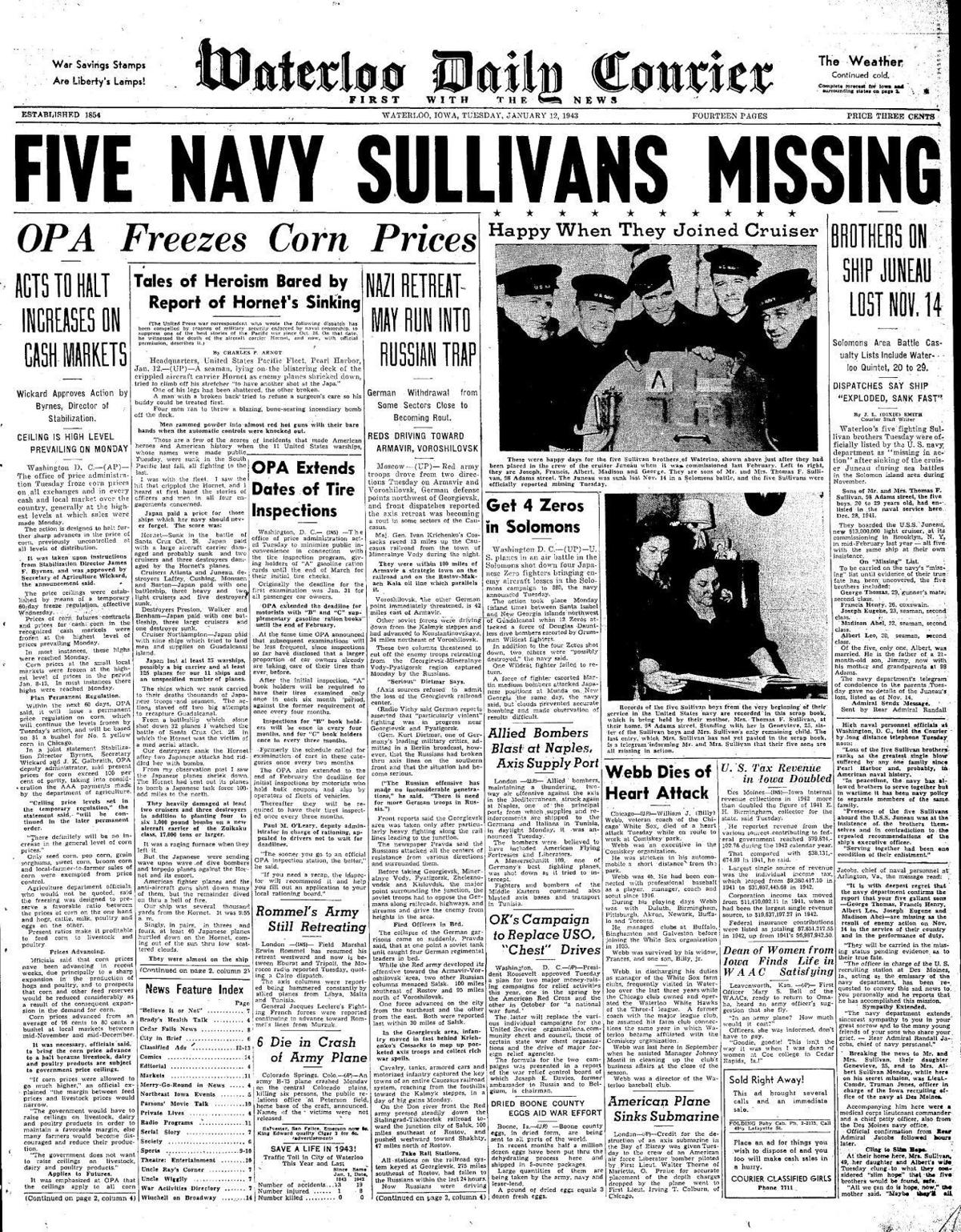 Courier Jan. 12, 1943