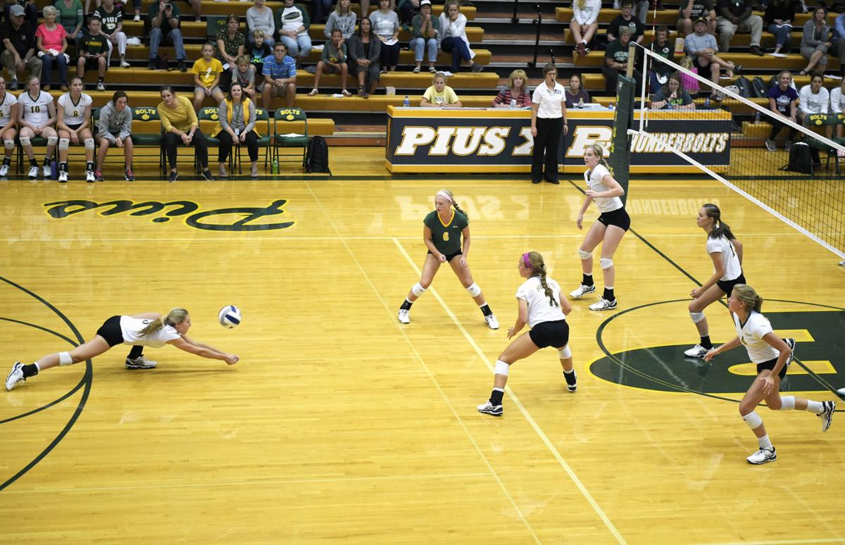 Southwest vs. Pius X, prep volleyball, 9/5/17