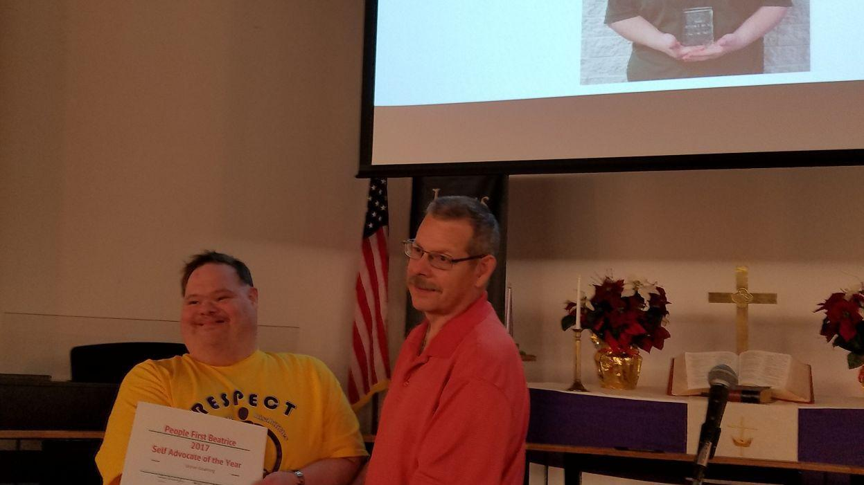 People First of Beatrice distributes self-advocacy awards