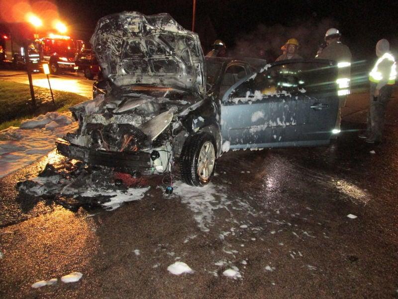 Car deer crash
