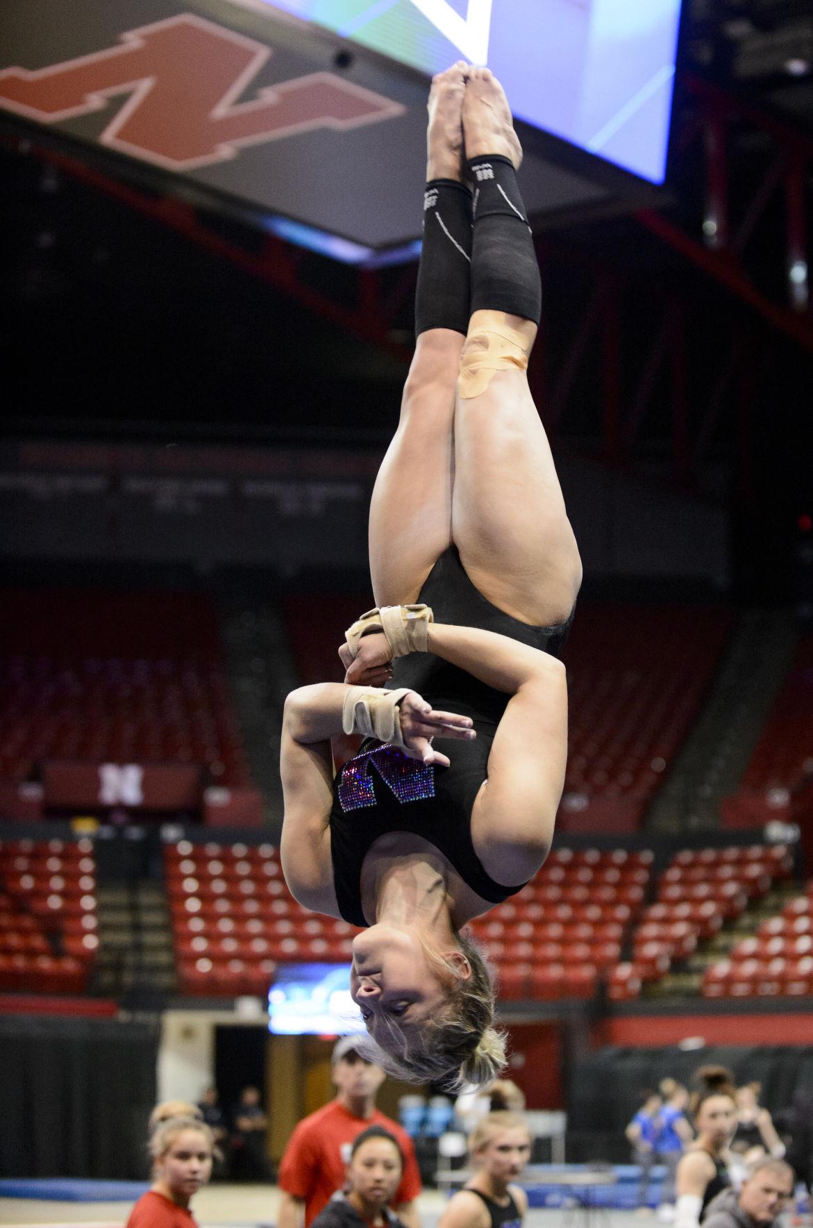 NCAA Gymnastics Practice, 3/31/17